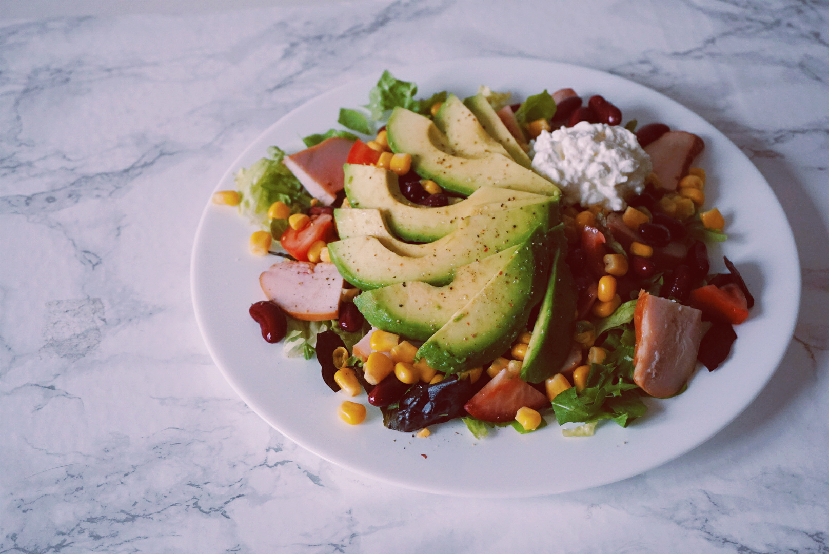 Mexicaanse salade lunchrecept-fitnesswithasmile