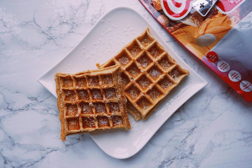 Pindakaas wafels ontbijt recept fitnesswithasmile