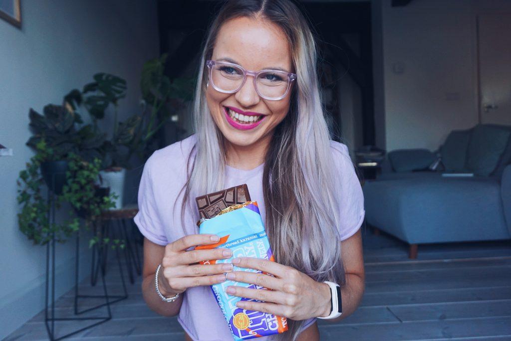 Review Tony's Chocolonely melk shortbread karamel Fitnesswithasmile