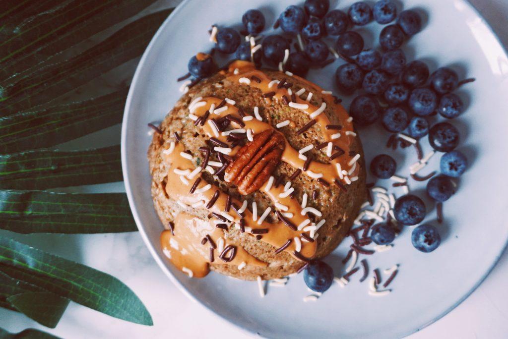 Super gezonde mugcake ontbijtrecept-fitnesswithasmile