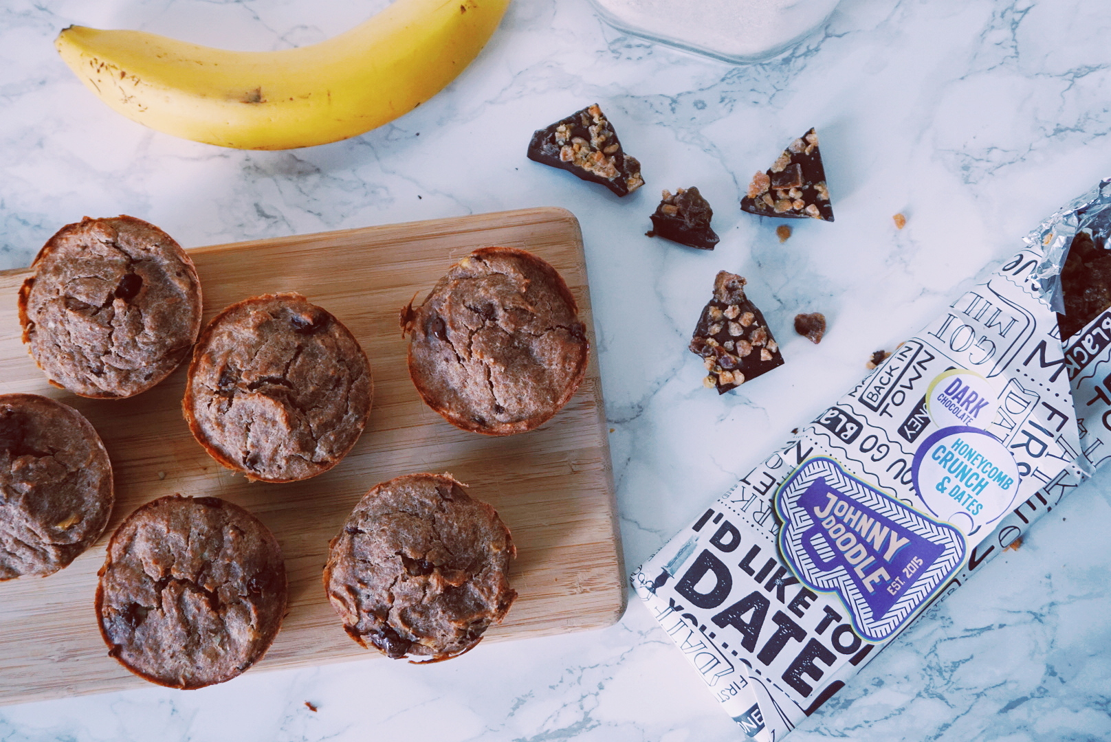 Gezonde bananen choco muffins fitnesswithasmile