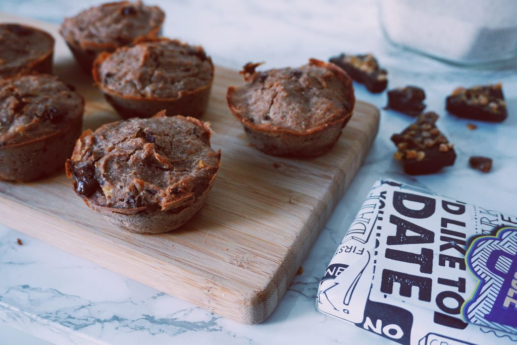 Gezonde bananen choco muffins Johnny Doodle fitnesswithasmile