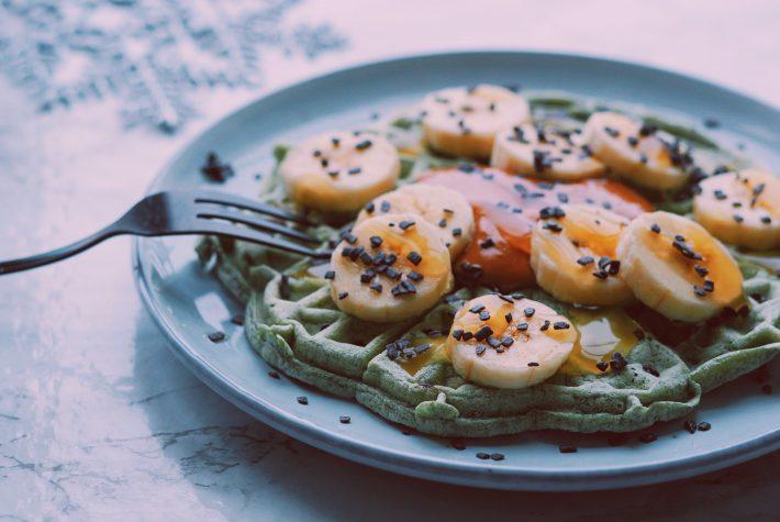 Gezonde ontbijtwafels met Spirulina fitnesswithasmile