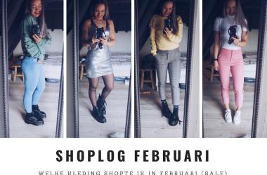 Shoplog februari header fitnesswithasmile