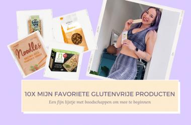 10 x favoriete glutenvrije producten van fitnesswithasmile header foto